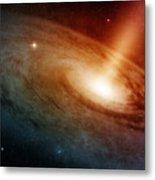 Spiral Galaxy System Glowing Into Deep Metal Print