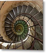 Spiral Staircase In The Arc De Metal Print