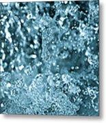 Splash From Waterfall Metal Print