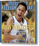 Splashdown Golden State Warriors 2015 Nba Champions Sports Illustrated Cover Metal Print