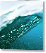 Split Level View Of A Passing Wave Metal Print