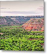 Sprawling Panorama Of Palo Duro Canyon And Capitol Peak - Texas State Park Amarillo Panhandle Metal Print