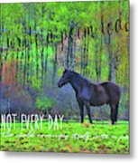 Spring Pasture Quote Metal Print