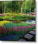 Springtime Keukenhof Gardens With Metal Print