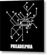 Square Philadelphia Subway Map Metal Print