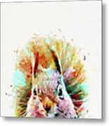 Squirrel Painting Metal Print