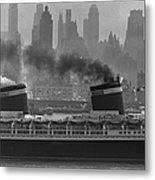 S.s. United States Sailing In New York Metal Print