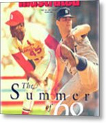 St. Louis Cardinals Bob Gibson And Detroit Tigers Denny Sports Illustrated Cover Metal Print