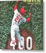 St. Louis Cardinals Curt Flood Sports Illustrated Cover Metal Print