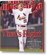 St. Louis Cardinals David Eckstein, 2006 World Series Sports Illustrated Cover Metal Print