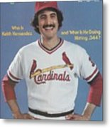 St. Louis Cardinals Keith Hernandez Sports Illustrated Cover Metal Print
