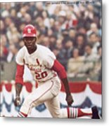 St. Louis Cardinals Lou Brock, 1967 World Series Sports Illustrated Cover Metal Print