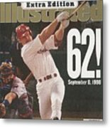 St. Louis Cardinals Mark Mcgwire, Baseball Sports Illustrated Cover Metal Print