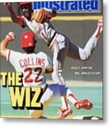 St Louis Cardinals Ozzie Smith... Sports Illustrated Cover Metal Print