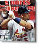 St Louis Cardinals V Milwaukee Brewers - Game 6 Sports Illustrated Cover Metal Print