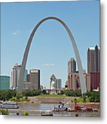 St. Louis Skyline With The Gateway Arch Metal Print