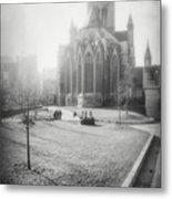 St Nicholas Church Ghent Belgium Black And White Metal Print