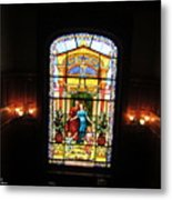 Stained Glass At Moody Mansion Metal Print