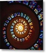 Stained Glass Window, Thanksgiving Metal Print