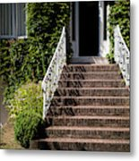 Stairs Leading To The Entrance Of A House Metal Print