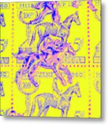 Stamps And Stallions Metal Print