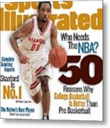 Stanford University Arthur Lee, 1998-99 College Basketball Sports Illustrated Cover Metal Print