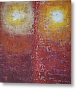 Staring Into The Suns Original Painting Metal Print