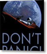 Starman Don't Panic In Orbit Metal Print
