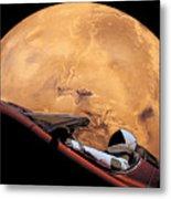 Starman In Orbit Around Mars Metal Print