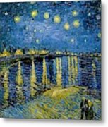 Starry Night - Digital Remastered Edition Metal Print