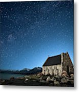 Stars And Midnight Blue Metal Print