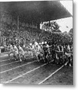 Start Of 3,000 Meter Olympic Race Metal Print