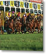 Start Of Horse Race, Sydney, New South Metal Print