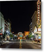 State Street With The Newly Lit Bristol Sign Metal Print