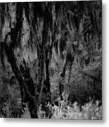 Statue In The Grass Metal Print