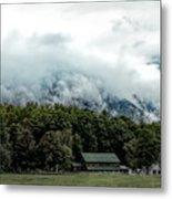 Steaming White Mountains Metal Print