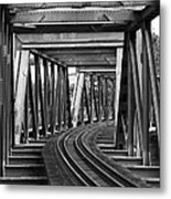 Steel Girder Railway Bridge Metal Print