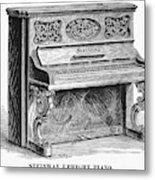 Steinway Piano, 1878 Metal Print