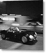 Steve Mcqueen Driving Sunset Strip Metal Print