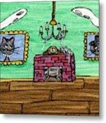 Stick Cats #1 Metal Print