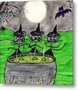 Stick Cats #2 Metal Print