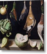 Still Life With Game Fowl Metal Print