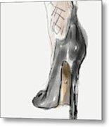 Stockings And Stilettos Metal Print