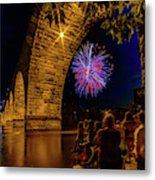 Stone Arch Bridge, July 4 Metal Print