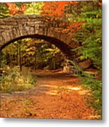 Stone Bridge, Part Of Carriage Roads Metal Print