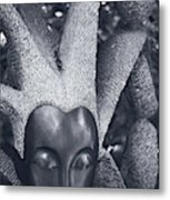 Stone Carving Of An African Woman Metal Print