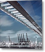 Stonecutters And Container Terminal Metal Print