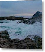 Storm At The Norwegian Coastline Metal Print