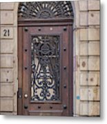 Strasbourg Door 11 Metal Print