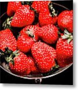 Strawberry Cocktail Metal Print